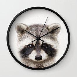 Baby Raccoon, Baby Animals Art Print By Synplus Wall Clock