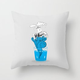 Storm in a glass of water Throw Pillow
