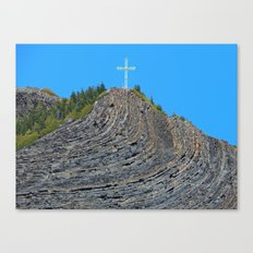 Bent rock Mountain cross Canvas Print