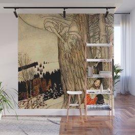 """""""Art Thou Warm"""" Fairy Art by Arthur Rackham Wall Mural"""
