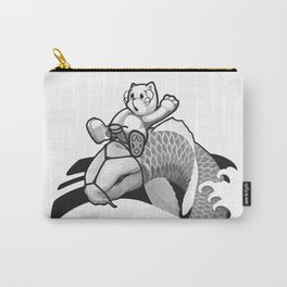 Black and Grey Japanese Rodeo Carry-All Pouch
