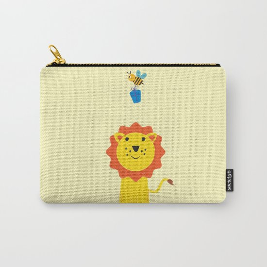 Lion and bee Carry-All Pouch