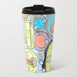 Abstract Star Colony Pattern Travel Mug