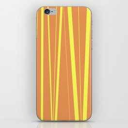 Orange And Yellow Stripes - Abstract Sunshine iPhone Skin