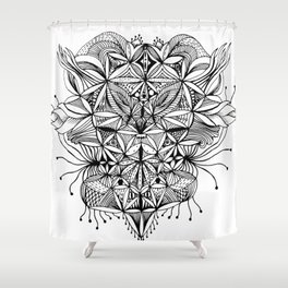 Face Enigma Shower Curtain