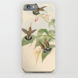 Rucker's Hermit Hummingbird by John Gould, 1861 (benefitting the Nature Conservancy) iPhone Case