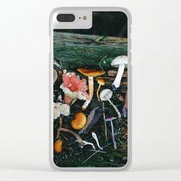 Little Mushrooms II Clear iPhone Case