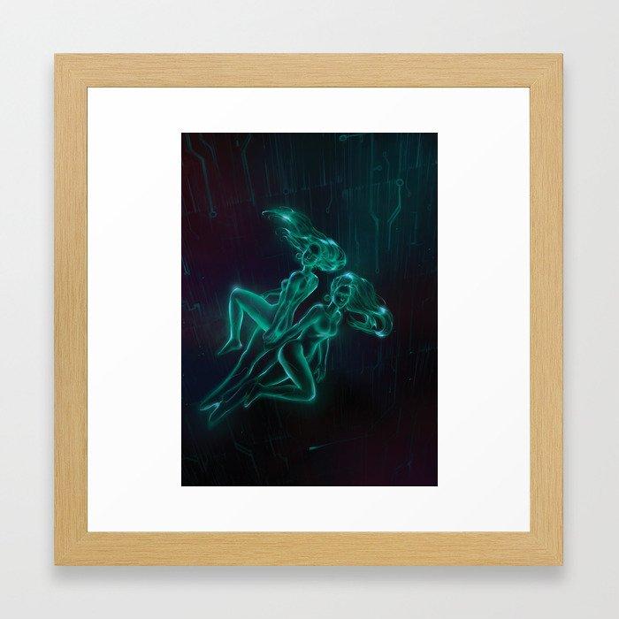 Netrunner: Gemini Framed Art Print by jumpei | Society6