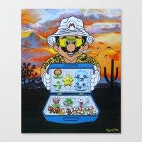 mario Canvas Prints featuring Mario by Ulyana Trots Art