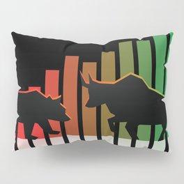 Bear VS Bull Stock Exchange Money Profit Shareholder Share Gift Pillow Sham
