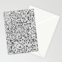 Gray Scale Grid - There's Nothing Left Stationery Cards