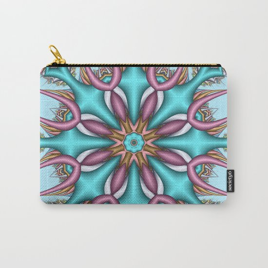 Pastel Pattern Kaleidoscope with optical effects Carry-All Pouch