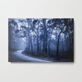 Dark Misty Road Metal Print