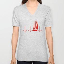 Sailing Heartbeat Unisex V-Neck