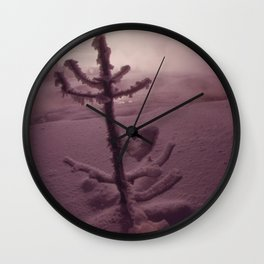 SPRUCE COATED WITH SNOW IN ISH RIVERS COUNTRY OF THE PACIFIC NORTHWEST. NEAR SEATTLE NARA 555071 Wall Clock
