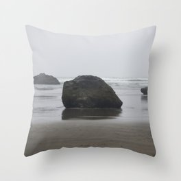 Hug Point Rock Formations Throw Pillow