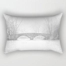 Snow at the Double Bridge Rectangular Pillow