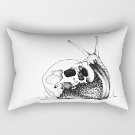 This Skull Is My Home (Snail & Skull) Rectangular Pillow