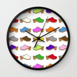 Because Clogs Wall Clock