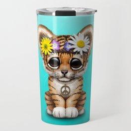 Cute Baby Tiger Cub Hippie Travel Mug