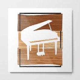 Piano  TShirt Music Instrument Shirt Musician Gift Idea Metal Print