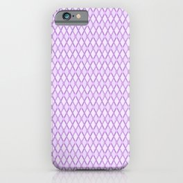 Crosshatch Purple iPhone Case