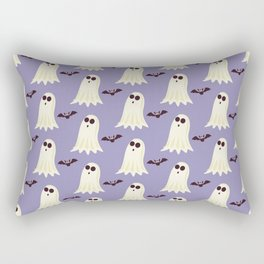 Halloween ghosts | Halloween Bats | Batcave | Purple pillows Rectangular Pillow