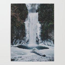Frozen Multnomah Falls Poster