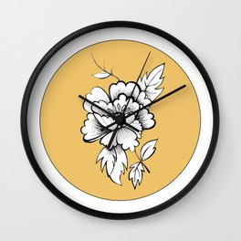 Peony for your Thoughts Wall Clock