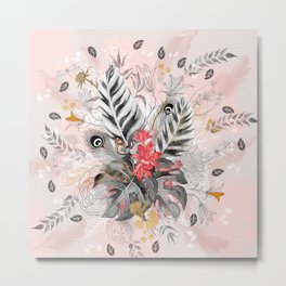 Abstract nature collage Metal Print