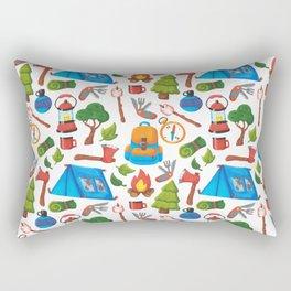 Camping Pattern Rectangular Pillow