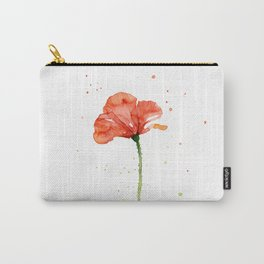 Abstract Red Poppy Flower Carry-All Pouch