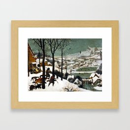 Pieter Bruegel the Elder Hunters in the Snow Framed Art Print