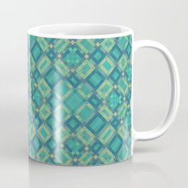 EMERALD cubic green prisms in abstract repeat pattern Coffee Mug
