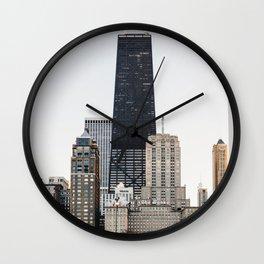 Oak Street Beach & The Gold Coast Wall Clock