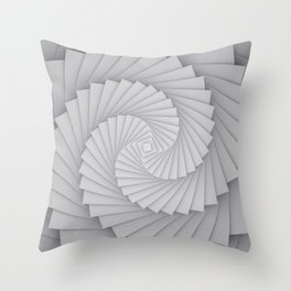 Abstract Spyral Throw Pillow