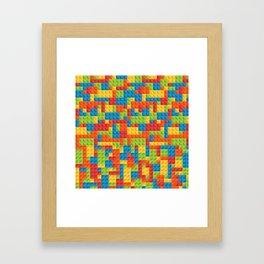 Legos Patter Framed Art Print