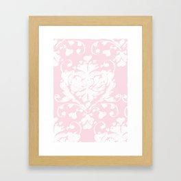 giving hearts giving hope: pink damask Framed Art Print