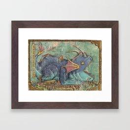 Water Dragon - Chrono Cross Framed Art Print