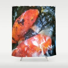 Koi Abstraction 001 Shower Curtain