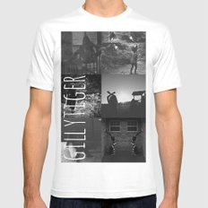 gillytiger SMALL White Mens Fitted Tee