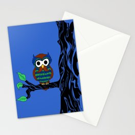 Mustachioed Owl Stationery Cards