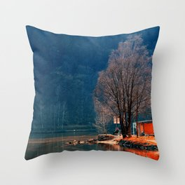 Gone fishing | waterscape photography Throw Pillow