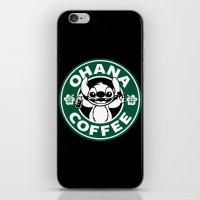 ohana iPhone & iPod Skins featuring Ohana Coffee by Ellador