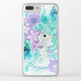 Madame Peacock Clear iPhone Case