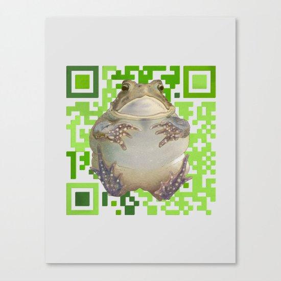 EcoQR Toad Canvas Print