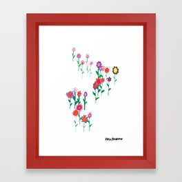 Flower Gathering Framed Art Print
