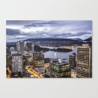 vancouver Canvas Prints featuring Vancouver  by Justin Forster Photo