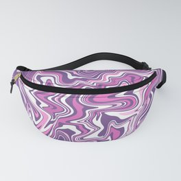 Pink & purple liquid marble Fanny Pack