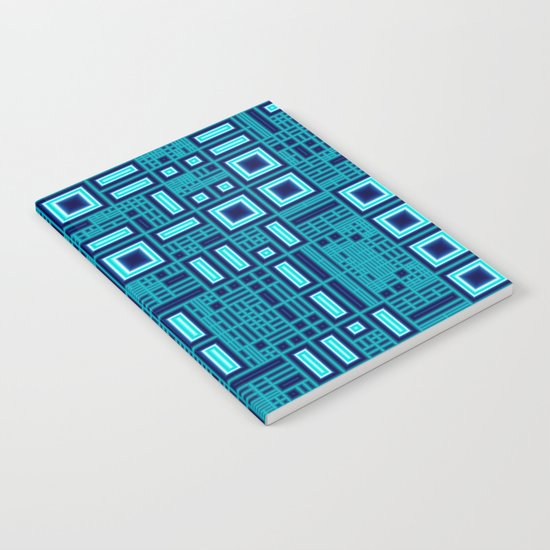 Blue digital geometric abstraction Notebook